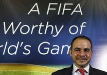 Príncipe jordaniano Ali Bin Al Hussein , candidato a presidente da Fifa, durante entrevista coletiva em Londres. 03/02/2015 REUTERS/Stefan Wermuth