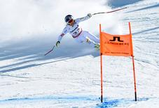 Feb 6, 2015; Beaver Creek, CO, USA; Lindsey Vonn of the United States in the women's downhill during the FIS alpine skiing world championships at Raptor Racecourse. Mandatory Credit: Eric Bolte-USA TODAY Sports