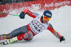 Feb 10, 2015; Vail, CO, USA; Ted Ligety of the United States after his race in the first round in the Nations Team Event during the FIS alpine skiing world championships at Golden Peak Stadium. Mandatory Credit: Jerry Lai-USA TODAY Sports