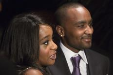 "Bobbi Kristina Brown (L) and Nick Gordon attend the opening night of ""The Houstons: On Our Own"" in New York October 22, 2012. REUTERS/Andrew Kelly"