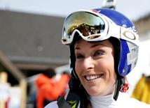 Feb 12, 2015; Beaver Creek, CO, USA; Lindsey Vonn of the United States after run one of the womens giant slalom in the FIS alpine skiing world championships at Raptor Racecourse. Jeff Swinger-USA TODAY Sports