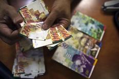 L'économie israélienne a connu au quatrième trimestre 2014 une progression de 7,2% en rythme annualisé, sa plus forte croissance en près de huit ans après le ralentissement provoqué par le conflit dans la bande de Gaza lors du trimestre précédent. /Photo d'archives/REUTERS/Nir Elias