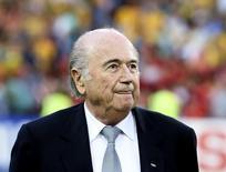 Presidente da Fifa, Joseph Blatter, durante a final da Copa Asiática de futebol em Sydney. 31/01/2015  REUTERS/Steve Christo