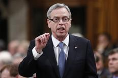 Canada's Finance Minister Joe Oliver speaks during Question Period in the House of Commons on Parliament Hill in Ottawa January 28, 2015. REUTERS/Chris Wattie
