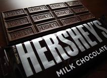 Hershey's chocolate bars are shown in this photo illustration in Encinitas, California January 29, 2015.   REUTERS/Mike Blake