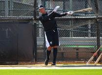 New York Yankees third baseman Alex Rodriguez (13) takes batting practice during spring training at Yankees Minor Leauge Complex. Mandatory Credit: Kim Klement-USA TODAY Sports