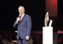 Presidente da Associação de Clubes Europeus, Karl-Heinz Rummenigge, em evento da Liga dos Campeões. 10/05/2014 REUTERS/Stuart Franklin/Pool