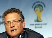 FIFA Secretary General Jerome Valcke addresses a news conference regarding the legacy of the 2014 Brazil World Cup in Sao Paulo January 20, 2015. REUTERS/Paulo Whitaker