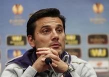 Técnico da Fiorentina Montella concede entrevista. 01/10/2014.   REUTERS/Vasily Fedosenko