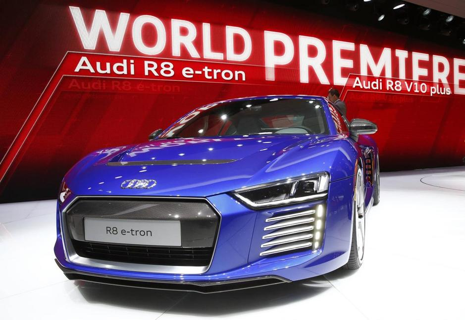 The New Audi R8 E Tron Electric Car Is Seen During First Press Day Ahead Of 85th International Motor Show In Geneva March 3 2017