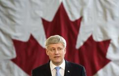 Canada's Prime Minister Stephen Harper speaks as he announces that the government will introduce legislation to give criminals life sentences with no parole for serious crimes such as murder, sexual assault, kidnapping, and terrorism, in Toronto, March 4, 2015. REUTERS/Mark Blinch