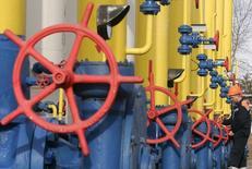 Газокомпрессорная станция в городе Боярка Киевской области. 5 марта 2008 года. Украинский госконцерн Нафтогаз заплатил российскому Газпрому очередной аванс в $15 миллионов за поставки российского газа в марте, сообщил Газпром. REUTERS/ Konstantin Chernichkin