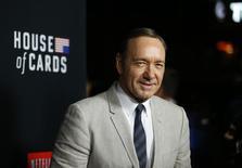 """Kevin Spacey na première da segunda temporada de """"House of Cards"""", em Los Angeles. 13/02/2014 REUTERS/Mario Anzuoni"""