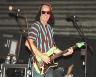 Musician Todd Rundgren performs with Ringo Starr and his All-Starr Band during a media event promoting the band's upcoming tour of South America, at a rehearsal hall in Hollywood October 23, 2013.  REUTERS/Fred Prouser
