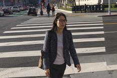 Ellen Pao walks to San Francisco Superior Court in San Francisco, California March 3, 2015.  REUTERS/Robert Galbraith