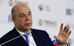 """Russia's Finance Minister Anton Siluanov attends the Gaidar Forum 2015 """"Russia and the World: New Dimensions"""" in Moscow, January 14, 2015. Russia's budget for next year will lose 3 trillion roubles (30 billion pounds) in revenues if the oil price averages $50 a barrel, Siluanov said on Wednesday. REUTERS/Sergei Karpukhin (RUSSIA - Tags: BUSINESS)"""