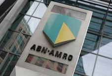 The ABN Amro logo is seen in central London May 29, 2007. REUTERS/Stephen Hird