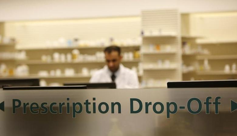 The pharmacy department drop-off station at the Safeway store in Wheaton, Maryland February 13, 2015.    REUTERS/Gary Cameron
