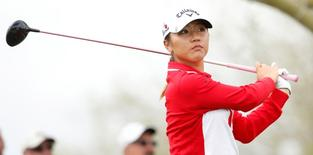 Lydia Ko tees off on the 11th hole during round one action of the JTBC Founders Cup at Wildfire Golf Club at JW Marriott Phoenix Desert Ridge Resort & Spa. Rob Schumacher-USA TODAY Sports