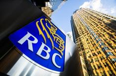 A Royal Bank of Canada (RBC) logo is seen on Bay Street in the heart of the financial district in Toronto, January 22, 2015.  REUTERS/Mark Blinch