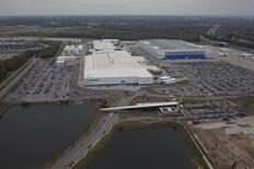 Aerial view shows the Boeing plant in North Charleston, South Carolina on March 26, 2015. REUTERS/Randall Hill