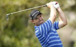 Padraig Harrington hits his tee shot on the 13th hole during round two action on the Copperhead Course during the Valspar Championship at Innisbrook Resort. Mar 13, 2015; Palm Harbor, FL, USA; Rob Schumacher-USA TODAY Sports