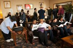 Jobseekers attend a job fair in Williston, North Dakota March 11, 2015. REUTERS/Andrew Cullen