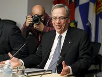 Canada's Finance Minister Joe Oliver meets with private sector economists in Ottawa, April 9, 2015. REUTERS/Patrick Doyle