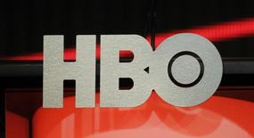 The logo for HBO,Home Box Office, the American premium cable television network, owned by Time Warner, is pictured during the HBO presentation at the Cable portion of the Television Critics Association Summer press tour in Beverly Hills, California August 1, 2012. REUTERS/Fred Prouser