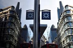 Le bénéfice imposable de Lloyds Banking Group a augmenté de 21% au premier trimestre, attestant d'une amélioration des marges et d'une diminution des pertes sur créances douteuses et irrécouvrables. La première banque de détail britannique a dégagé un bénéfice imposable hors exceptionnels de 2,2 milliards de livres (3 milliards d'euros). /Photo d'archives/REUTERS/Toby Melville