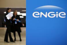 L'action de GDF Suez, rebaptisé Engie, est à suivre mardi à la Bourse de Paris, le groupe s'étant dit intéressé par certaines activités de l'équipementier nucléaire public Areva. /Photo prise le 28 avril 2015/REUTERS/Benoit Tessier
