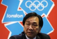 Wu Ching-Kuo, president of the International Amateur Boxing Association (AIBA), speaks during an interview at the ExCel arena in London August 7, 2012.  REUTERS/Murad Sezer