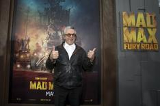 "Director of the movie George Miller poses at the premiere of ""Mad Max: Fury Road"" in Hollywood, California May 7, 2015.  REUTERS/Mario Anzuoni"