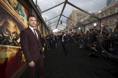 """Cast member Nicholas Hoult poses at the premiere of """"Mad Max: Fury Road"""" in Hollywood, California May 7, 2015. The movie opens in the U.S. on May 15.  REUTERS/Mario Anzuoni"""