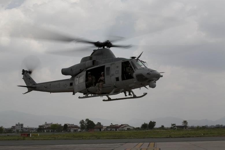 Choppers and drone hunt for missing U.S. Huey, Nepal...