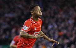 Atacante do Liverpool Raheem Sterling. 13/04/2015 Action Images via Reuters / Lee Smith
