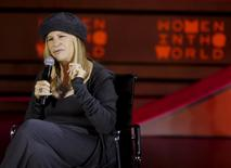 Actress Barbra Streisand speaks during the Women in the World summit in New York, April 23, 2015.   REUTERS/Shannon Stapleton