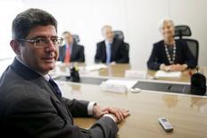 Ministro da Fazenda, Joaquim Levy, durante encontro com a diretora-gerente do Fundo Monetário Internacional (FMI), Christine Lagarde, em Brasília 21/05/2015. REUTERS/Ueslei Marcelino