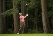 Golf - BMW PGA Championship - Virginia Water, Surrey, England - 22/5/15 Spain's Miguel Angel Jimenez in action during the second round. Reuters / Paul Childs