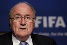 Presidente da Fifa, Joseph Blatter, em foto de arquivo. 30/11/2011 REUTERS/Arnd Wiegmann