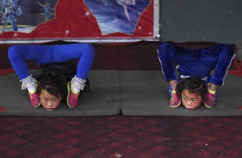 China's acrobats in training