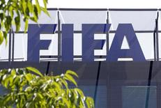 Logo da Fifa na sede da entidade, em Zurique. 27/05/2015 REUTERS/Ruben Sprich