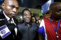 Pelé durante chegada em Havana.   01/06/2015   REUTERS/Enrique de la Osa