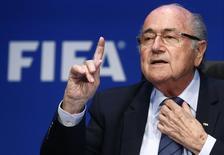 Presidente da Fifa Joseph Blatter durante entrevista em Zurique. 30/5/2015.   REUTERS/Arnd Wiegmann