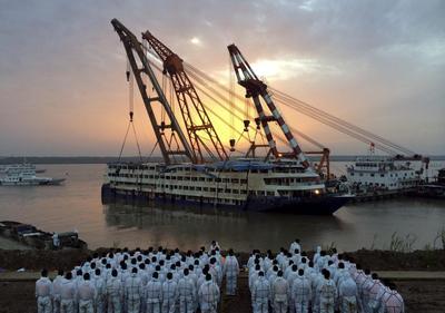China raises capsized ship