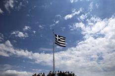 Bandeira da Grécia vista em Atenas.   05/06/2015    REUTERS/Alkis Konstantinidis