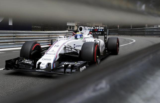 Williams Formula One driver Felipe Massa of Brazil drives during the third free practice session at the Monaco F1 Grand Prix May 23, 2015. REUTERS/Max Rossi
