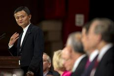 Jack Ma, Founder and Executive Chairman of Alibaba Group addresses the Economic Club of New York at the Waldorf Astoria Hotel in the Manhattan borough of New York City, June 9, 2015.   REUTERS/Mike Segar