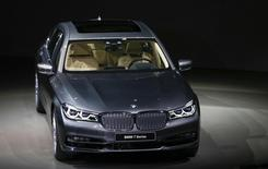 The new BMW 7 series car is pictured during the world premiere at the company's headquarters in Munich, Germany, June 10, 2015.  REUTERS/Michael Dalder   -