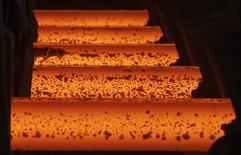 Стальные стержни на заводе в Египте. 17 апреля 2013 года. Канадский антимонопольный регулятор начал расследование импорта некоторых видов горячекатаной толстолистовой стали из России и Индии в ответ на жалобу местного производителя Essar Steel Algoma. REUTERS/Amr Abdallah Dalsh